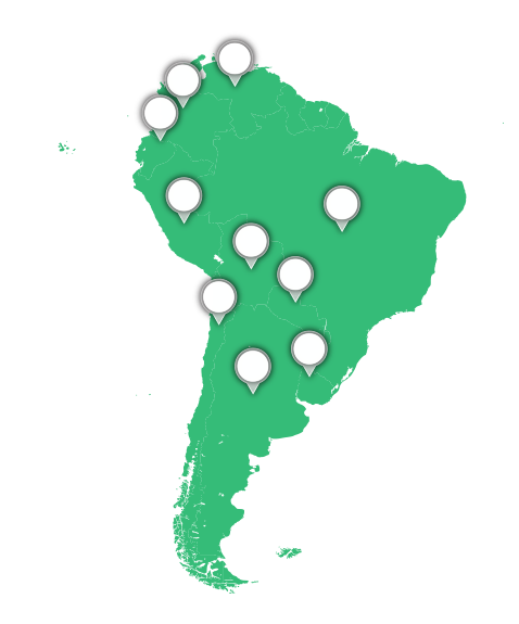 South America graphic
